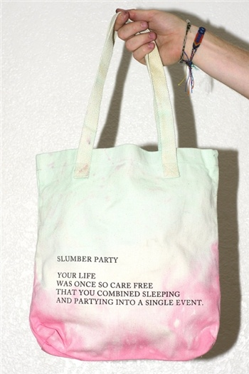 slumber party- great idea for a treat bag!                                                                                                                                                                                 More