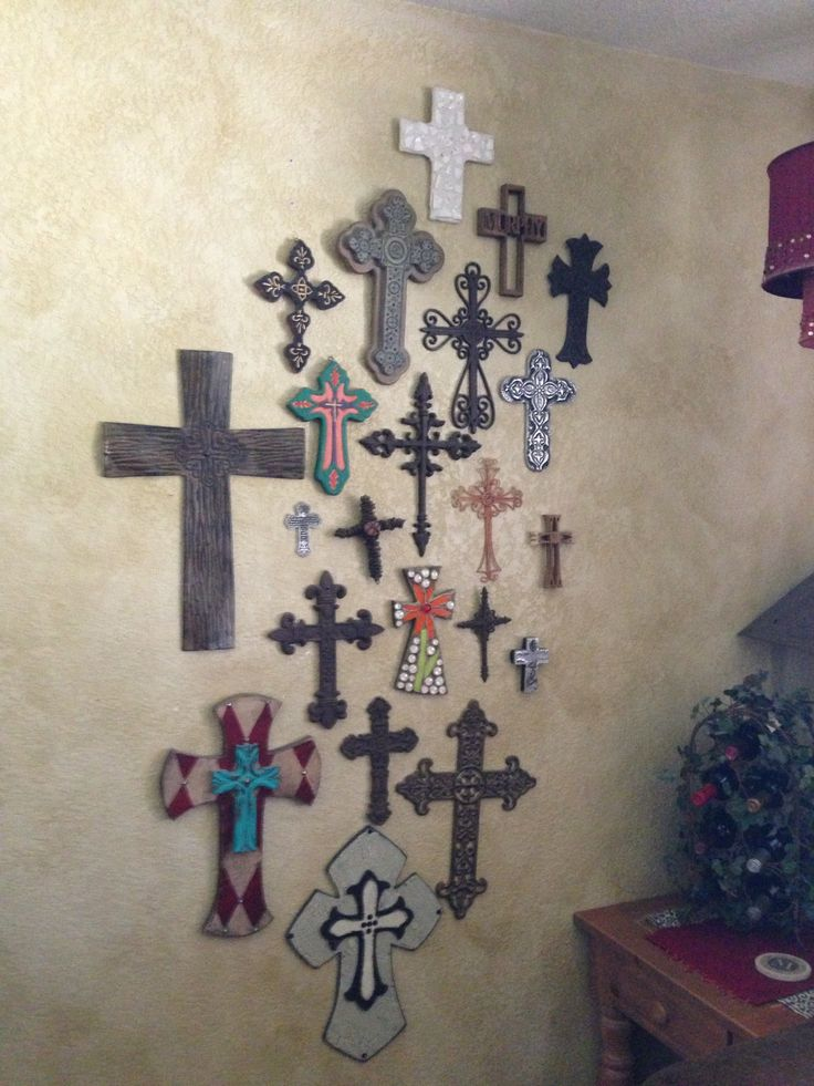 25 best ideas about cross wall collage on pinterest for Cross wall decor ideas
