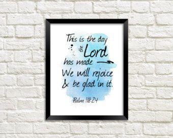 Printable Wall Art Bible Verse Scripture by HomemadeStephani