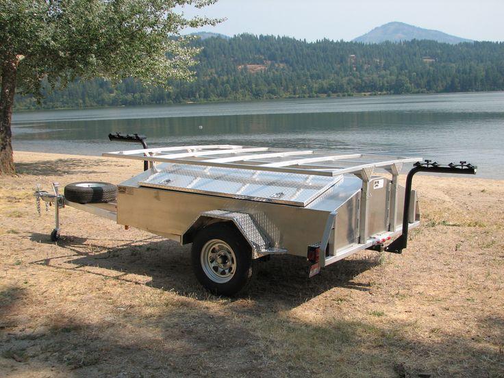 kayak trailer | MULTI Place Aluminum Canoe, Kayak, Raft, Bike, & Gear Trailer with ...
