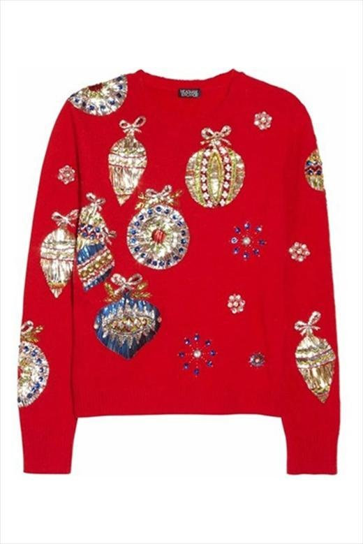 I would like to wear this every day of every year. Meadhm Kirchhoff Christmas Jumper via AnOther