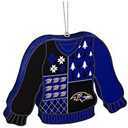 Baltimore Ravens Official NFL 5.5 inch Foam Ugly Sweater Christmas Ornament by Forever Collectibles 239616