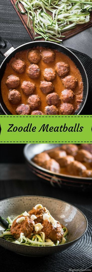 Super delicious and healthy zoodle meatballs. No spiralizer required. This is now one of my favorite ways to prepare zucchini.