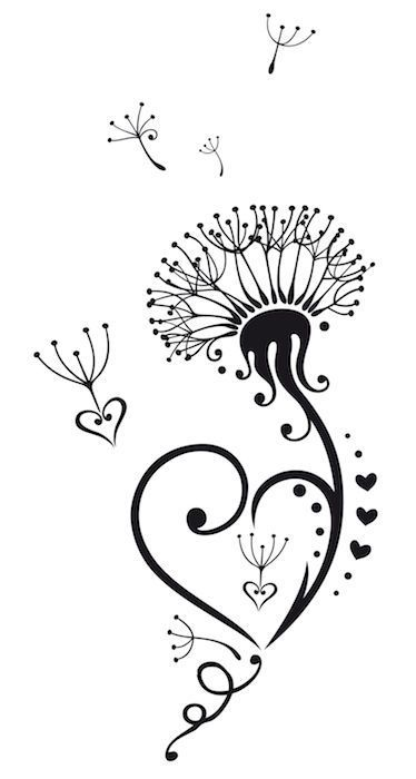 Dandelion-Tattoo-8.jpg (374×700)