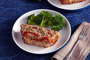 Fajita-Style Meatloaf recipe - Kraft Recipes  Use gluten free taco seasoning and salsa.