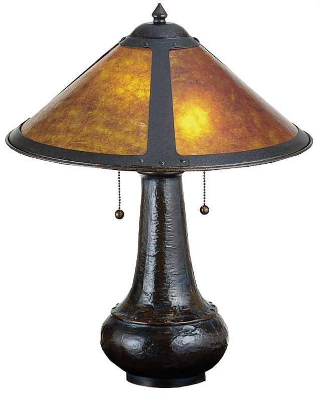 Meyda Tiffany 22210 Stained Glass / Tiffany Table Lamp from the Mica Collection Tiffany Glass Lamps Table Lamps Accent Lamps