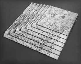 Robert Smithson: Untitled, 1967. Carte sur miroir. Passaic, New Jersey.