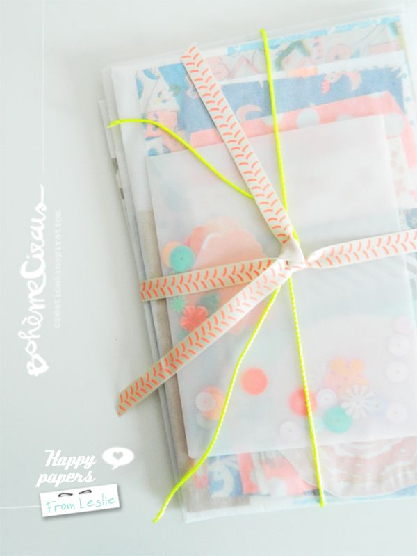 Gift wrap with Ribbons! Could be great with one of Anna Maria Horner narrow ribbons:http://retail.renaissanceribbons.com/k/search?q=am-008
