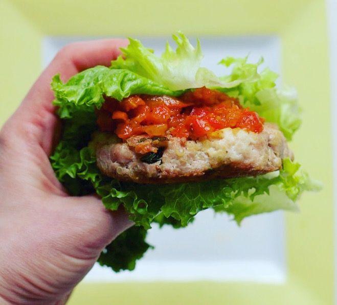 Basil Quinoa Turkey Burgers (Low FODMAP)