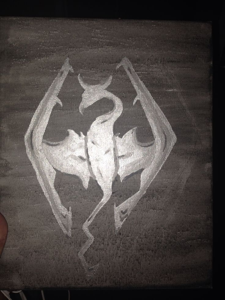 Not the greatest pic but it's the skyrim elder scrolls logo.