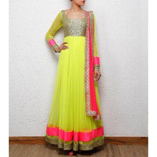 Bridal anarkali... My favourite colour combination.. :-)