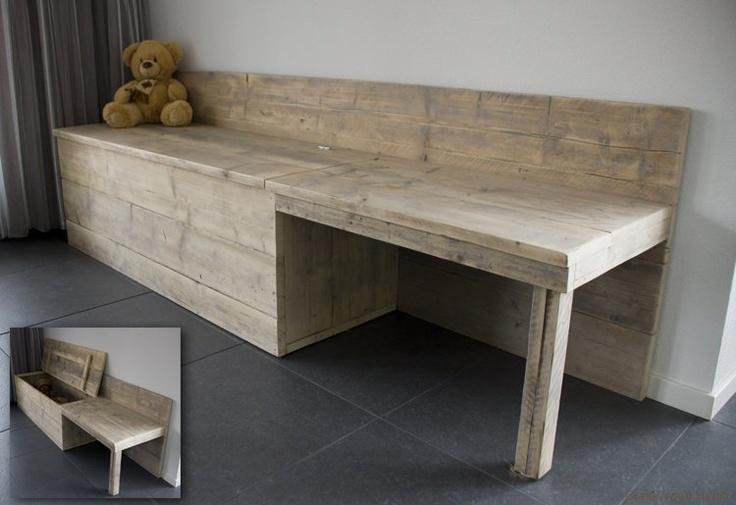 opbergbank + tafel in 1