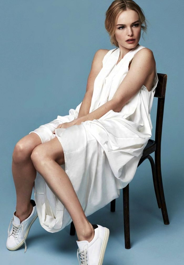 Kate Bosworth Stuns In Minimal White Looks For Marie Claire UK via @WhoWhatWearUK