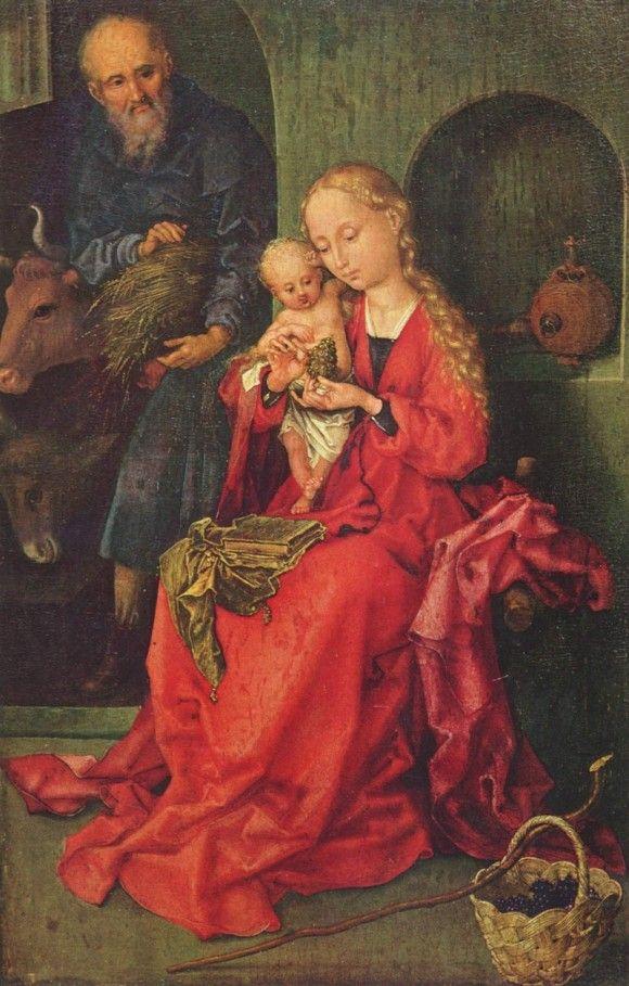 The Holy Family - Мартин Шонгауэр. Kunsthistorisches Museum, Vienna, Austria.