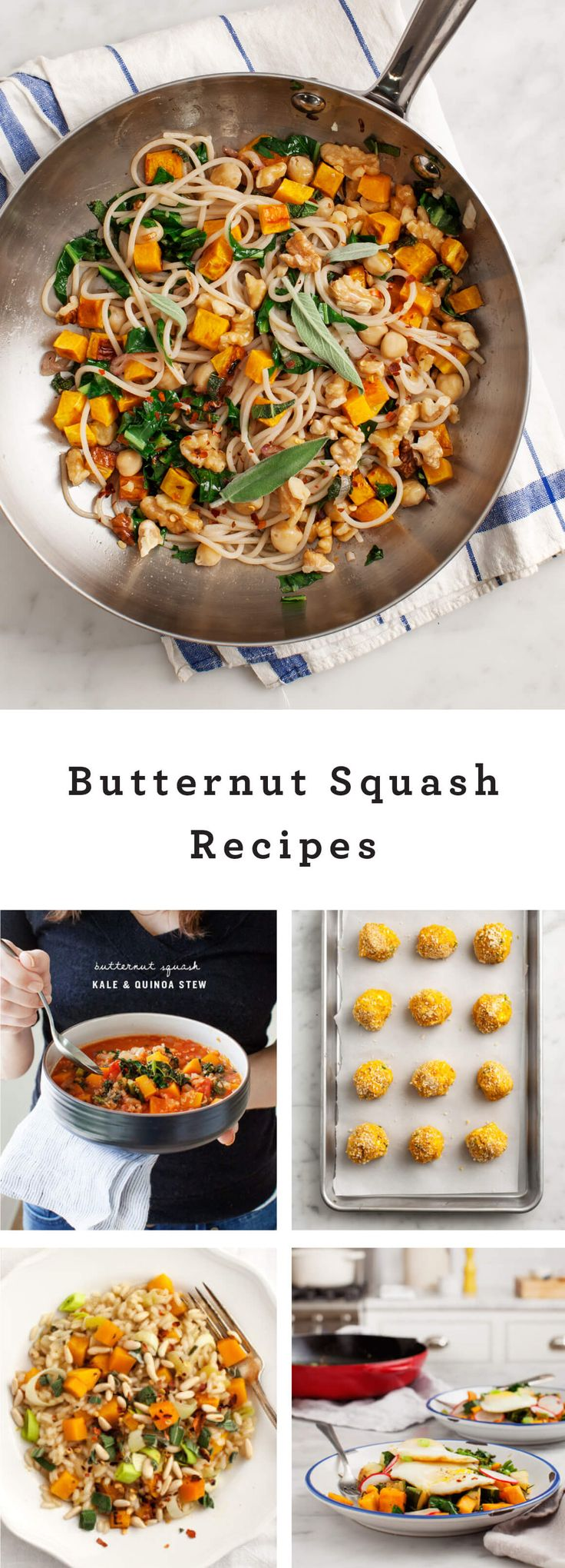 Food Photography :: It's officially fall here in Austin. It's drizzly and cold outside (well, cold-ish) and that makes me want to do nothing more than roast cozy squash-y things in the oven. Here are a bunch of my favorite butternut squash recipes – what are yours? Butternut Squash Walnut & Sage Pasta Butternut Squash Kale & Quinoa Stew Butternut Squash Croquettes Butternut Squash & Leek Risotto Butternut Squash Breakfast Hash Rosemary Roasted Veggies Butternut Squash & Tart Cherry Quinoa…