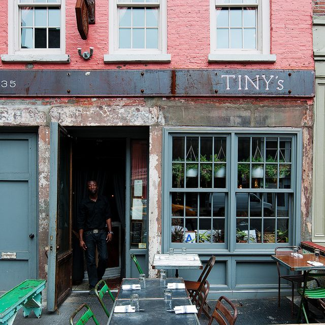 Tiny's, 135 West Broadway  [For that shopping lunch with one or three spicy margaritas.]