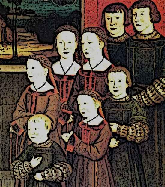 Medieval Noble Children - Picture of Medieval Children probably nobles by Bernhard Strigel