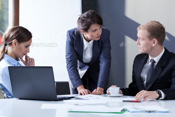 Angry Female Manager Female Manager Business Photos Graphics Design Ideas