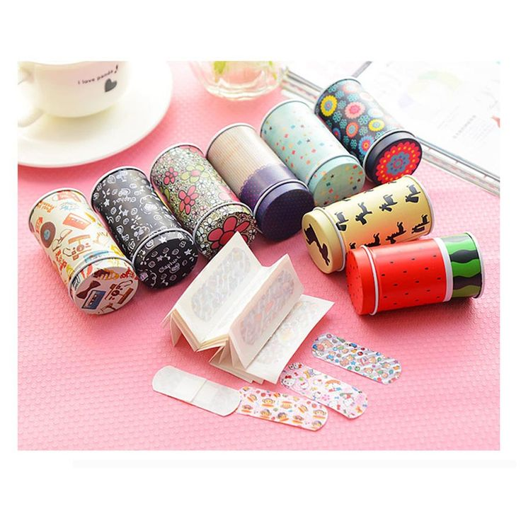 40pcs/box Cartoon Bandages Adhesive Bandages Hemostasis Band aid Sterile Stickers Wound Plaster First Aid For Kids Children C664