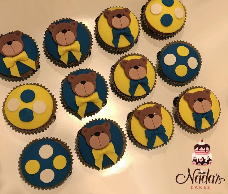 Teddy Bear Themed Cupcakes