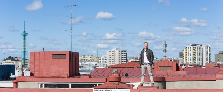 Promotional pictures shot in the rooftop of a building in Downtown Helsinki.