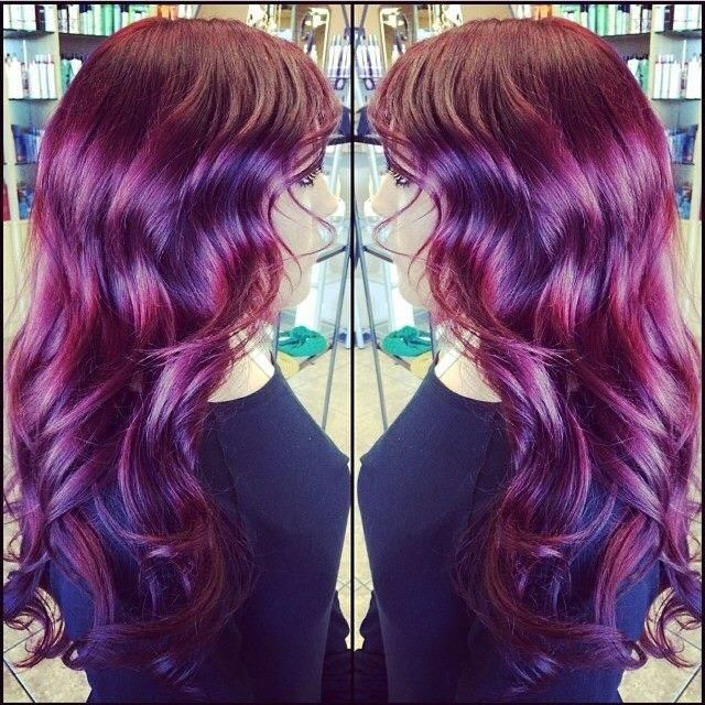 red violet color technique by katey bug browne - Color Touch Wella Mode D Emploi