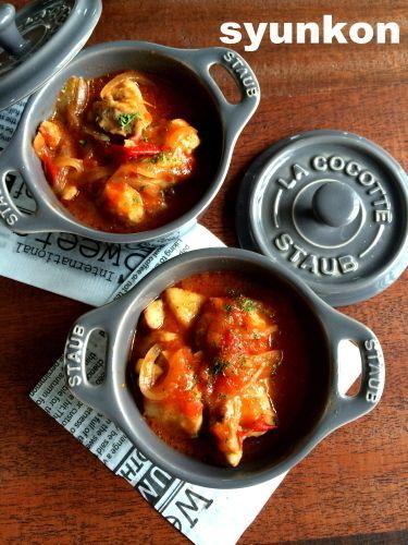 レンジで一発!!】めっちゃおすすめです。タッパー1つで絶品チキンの ... ... トマト煮&チーズ焼き レシピ. 【レンジで一発!!】めっちゃおすすめです。タッパー1つで