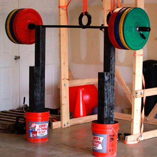 37 best homemade pull up bar images on pinterest for Diy squat rack metal