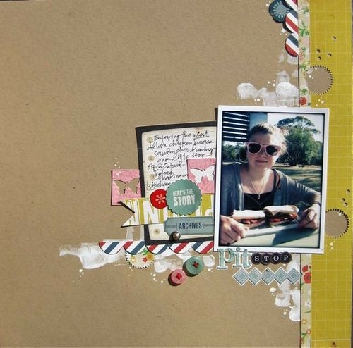 by Gina at Two PeasBlank Spaces, 07 40Am Crates, Scrapbook Kits, Buckets, Open Spaces, Studios Calico, April Kits, Crates Paper, The Roller Coasters