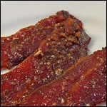 Sweet & Spicy Pecan Crusted Bacon - something special for the hubby's...