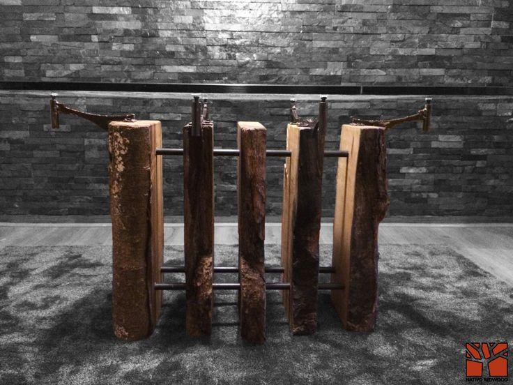 Nativo Redwood.  Mesa comedor con base de tronco de madera nativa de Laurel seccionada con soportes de fierro forjado con regulador, con cubierta de cristal de 1.00x1.50x19 mm de espesor.  Valor: $1.250.000 A pedido en Av. Camilo Henriquez 3941, Puente Alto. Fono: +56 9 62277920 nativoredwood@gmail.com www.nativoredwood.com Facebook: /nativoredwood Pinterest: /nativoredwood Instagram y Twitter: @NativoRedWood Google +: /nativoredwood