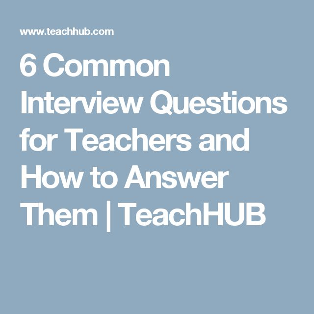 Best 25+ Interview Questions For Teachers ideas on Pinterest ...