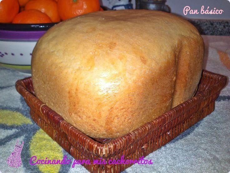 Pan básico (pan blanco en panificadora)