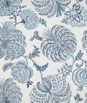 Robert+Allen+Garden+Life+Indigo+Fabric