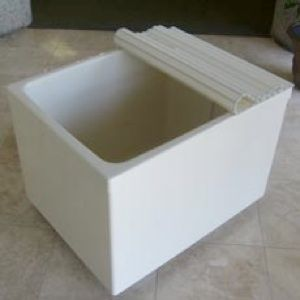 """ofulo japanese soaking tub - freestanding - 35.4"""" x 27.6""""  25.2"""" - can buy recirculating heater, cover."""