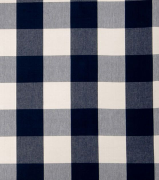 Home Decor Print Fabric-Eaton Square Siamese-Navy Checks