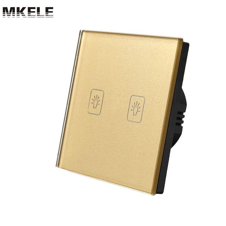 $17.11 (Buy here: https://alitems.com/g/1e8d114494ebda23ff8b16525dc3e8/?i=5&ulp=https%3A%2F%2Fwww.aliexpress.com%2Fitem%2FTouch-Switch-Golden-EU-Standard-2-Gang-2-Way-Light-Switch-Touch-Screen-wall-switch-wall%2F32651329851.html ) Sensor Switch Touch Switch Golden EU Standard 2 Gang 2 Way Light Switch Touch Screen wall switch wall socket for lamp for just $17.11