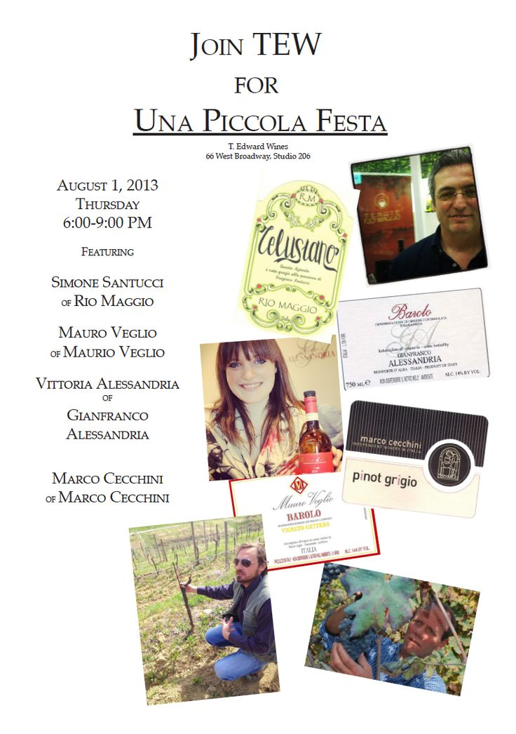 From last night's Una Piccola Festa with our Italian producers.