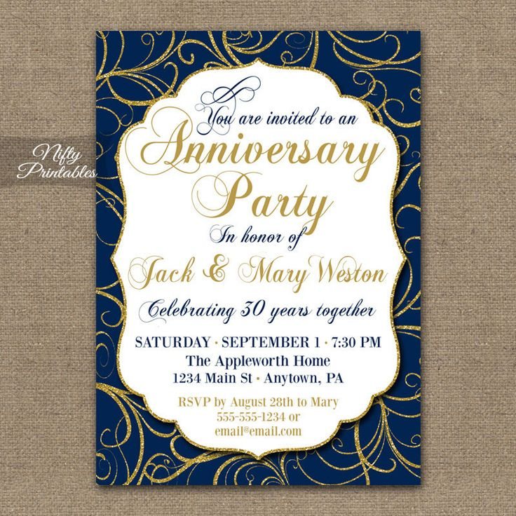 17 Best ideas about Anniversary Invitations on Pinterest ...