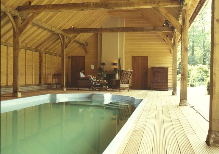 Eiken eikenhout eikenhouten bijgebouw bijgebouwen atelier carport garage gastenverblijf - Zwembad cottage ...