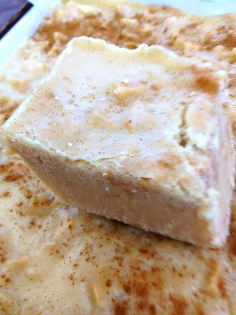 Apple Pie Fudge - Makes one 8 X 8 inch pan full. - ****** Refrigerate for 3 hours, until hardened, or overnight.