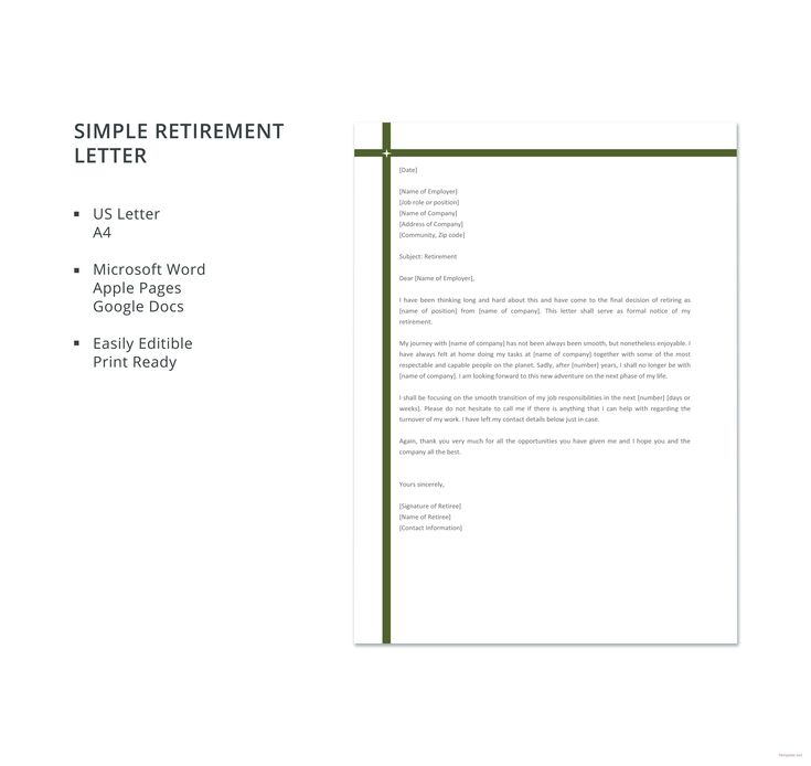 49++ Retirement letter template word ideas in 2021