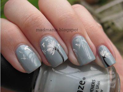 The 25 best dandelion nail art ideas on pinterest pretty nails mad manis dandelion nail art tutorial prinsesfo Gallery