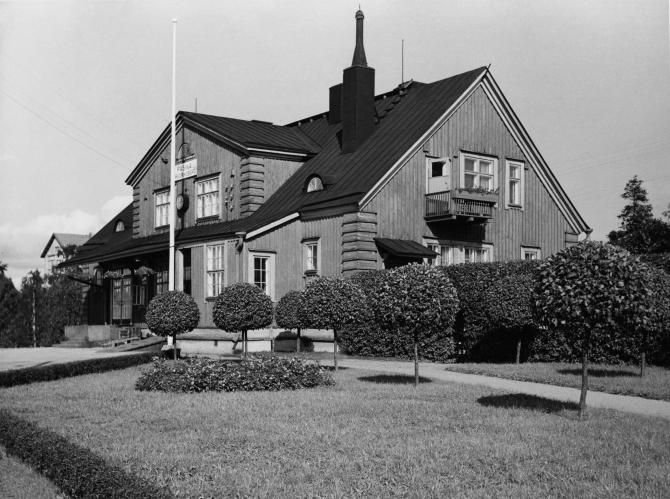 Pasilan rautatieasema. Kuva C. Grünberg 1956