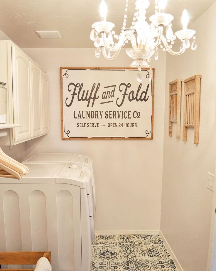 fluff and fold self serve laundry sign - Laundry Room Decor