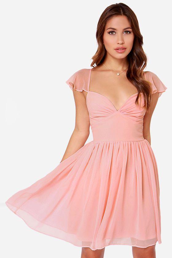 1000  ideas about Peach Dresses on Pinterest - Fashion clothes ...