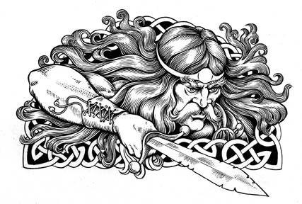 Celtic Warrior Art | Celtic Warrior Tattoo Design Village Sign For Inchigeela Co Cork