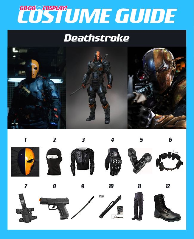 DIY Deathstroke Costume Guide for cosplay or halloween #cosplay