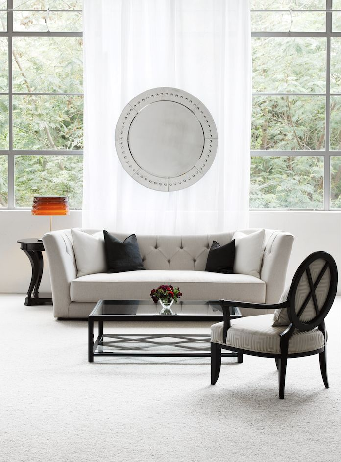 Butterfly Sofa made in Italy by Opera Contemporary, Julia Armchair made in Italy by Sedital, Ivan Coffee Table made in Italy by Opera Contemporary, Saratogoa Side Table made in Ecuador by La Galeria. Available at Sarsfield Brooke.