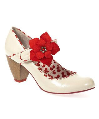 Cream Liza Mary Janes from Ruby Shoe, 1950s Shoes on zulily.co.uk